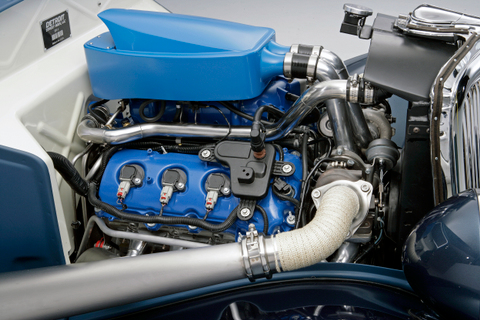 34 Ford Coupe Engine Left